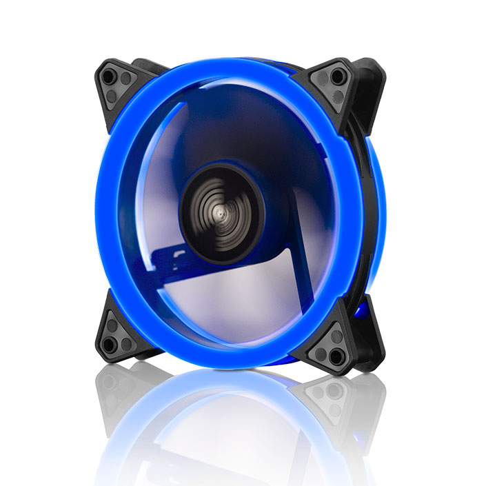 TWO RING BLUE LED FAN